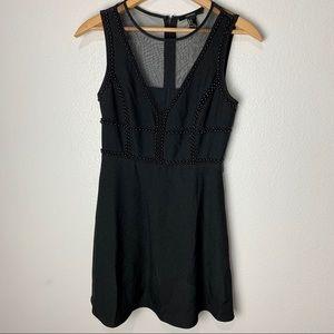 F21 Black Beaded Evening Dress